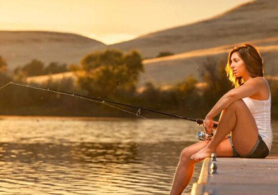 Баба на рыбалке. К несчастью?